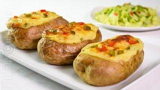 getlinkyoutube.com-Cartofi umpluti la cuptor | JamilaCuisine