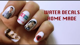 DIY: WATER DECALS HOME MADE | Nail Art Tutorial | mikeligna