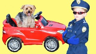 getlinkyoutube.com-Little Heroes - The Run Away Dog, Mercedes, Criminal and Real Life Kid Cop Superhero Comic Parody