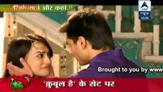 getlinkyoutube.com-Nandini & Poorvi Ne Bachayi Zoya Ki Jaan at Qubool Hai shown by SBS at 20th May 2013