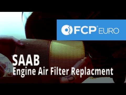 Saab Engine Air Filter Replacement (9-5)