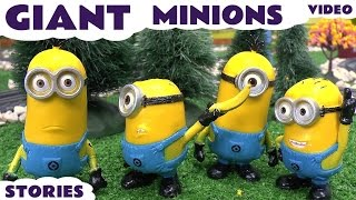getlinkyoutube.com-Minions Giant Funny Minions Toy Story Video Thomas & Friends Play Doh Surprise Eggs Despicable Me