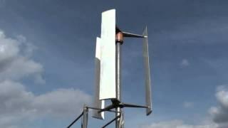 "getlinkyoutube.com-VAWT ""Nubelo""; vertikale Windkraftanlage/Windturbine ""Nubelo"" nach Darrieus-Prinzip"