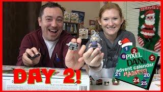 getlinkyoutube.com-Advent Calendar Mini Figure Madness 2016 - DAY 2 - Disney Tsum Tsum, TMNT, and Thomas!