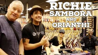 getlinkyoutube.com-Richie Sambora and Orianthi shops at Norman's Rare Guitars