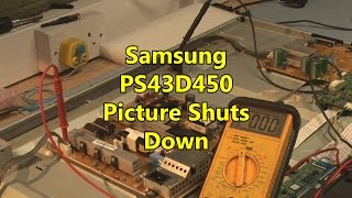 getlinkyoutube.com-Samsung PS43D450 Picture shuts down after 1 minute bn44-00442b