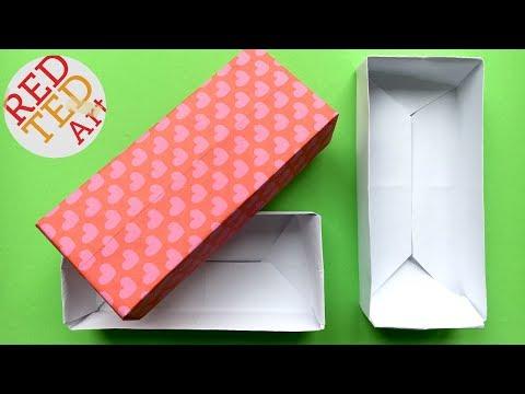 Easy Rectangular Origami Box - Paper Crafts - Crafts Basics