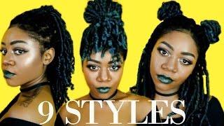 getlinkyoutube.com-9 Ways To Style Medium Length Locs / Braids / Twists - Protective Styles | 2 Minute Hairstyles