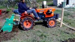 getlinkyoutube.com-KUBOTA B6001+ROTOVATOR