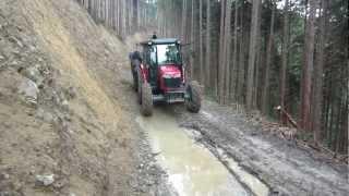 getlinkyoutube.com-トラクター式木材運搬車走行テスト