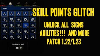 The witcher 3: The best skill points glitch patch 1.22/1.23 pc,ps4,xbox one (No dlc required)