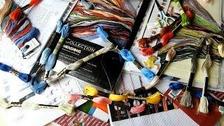 getlinkyoutube.com-Мои НОВЫЕ НАБОРЫ,ткани,ниточки и др. ПОКУПКИ для вышивки крестиком