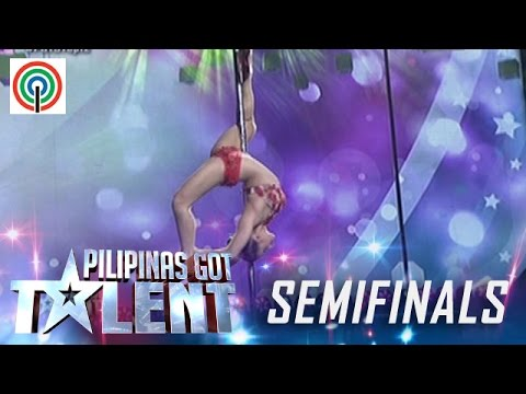 Pilipinas Got Talent Season 5 Live Semifinals: Celine Velayo - Pole Dancer