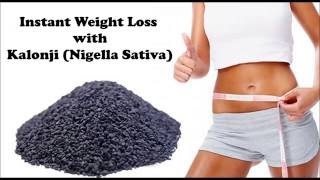 getlinkyoutube.com-Instant Weight Loss with Kalonji | How to Use Kalonji (Nigella Sativa) for belly fat loss
