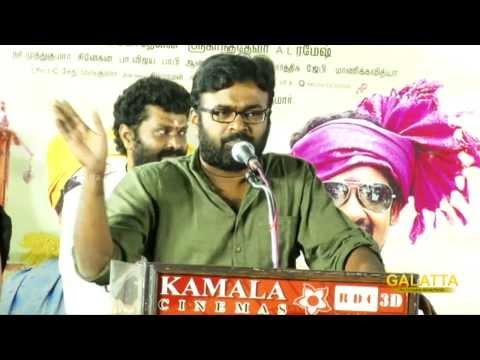 Why Karu Pazhaniappan talks about Buddha at Velmurugan Borewells music launch