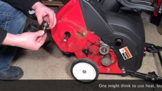 getlinkyoutube.com-MTD Yard Machines 21 inch snow blower auger assembly FULL REPAIR in HD
