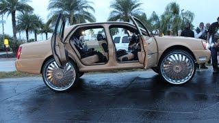 "getlinkyoutube.com-Cadillac with Suicide Doors on 30"" DUB Floaters 2014 Orlando Classics Weekend"