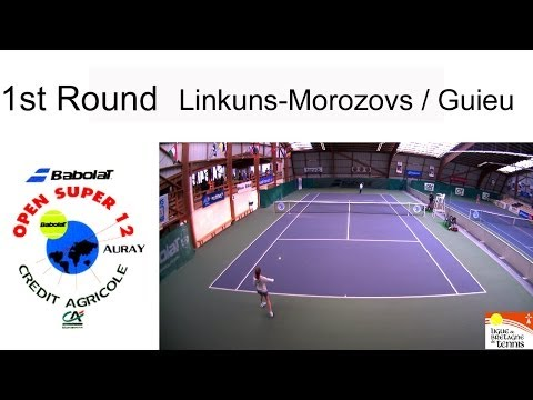 Victory of Guieu (FRA) over Linkuns-Morozovs (LAT)  Open Super 12 Auray - Boys 1st Round