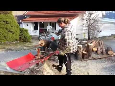 Heimelaga vedmaskin / Homemade firewood processor