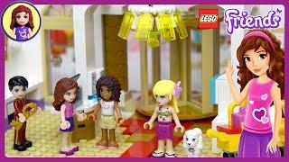 getlinkyoutube.com-Lego Friends Heartlake Grand Hotel Set Unboxing Building Review - Kids Toys