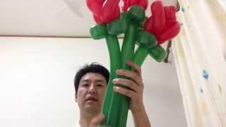 getlinkyoutube.com-バルーンアート 薔薇の作り方 How to make balloon art roses