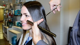getlinkyoutube.com-Extreme Hair Makeover Long to Short by Jerome Lordet NYC Howto