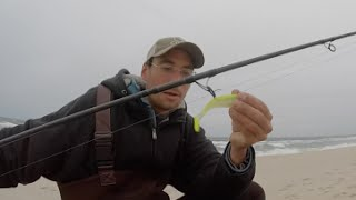 getlinkyoutube.com-Surf Fishing for Stripers - Lure Tip!! New Jersey Oct. 2015