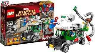 getlinkyoutube.com-LEGO Ultimate Spider-Man: Doc Ock Truck Heist 76015 Toy Review