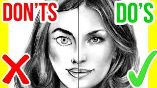 DO'S & DON'TS: How To Draw A Face | Step By Step Drawing Tutorial