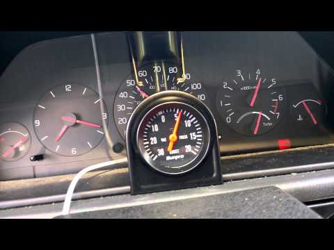 New boost gauge on the Volvo 940 Turbo Wagon - Sunpro Boost Gauge