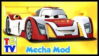getlinkyoutube.com-Cars: Fast as Lightning NEON RACING! Mecha Mod Shu Unlocked vs Wingo, McQueen, Max