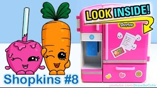 getlinkyoutube.com-How to Draw Shopkins Candy Apple and Wild Carrot step by step Cute