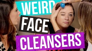 getlinkyoutube.com-4 Weird Facial Cleansers (Beauty Break)