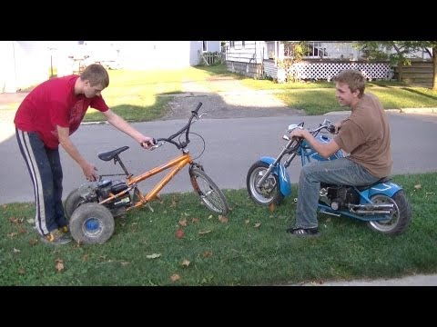 Mini Chopper Vs. Homemade 4hp Trike