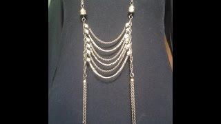 getlinkyoutube.com-Como hacer un collar largo de cadenas facil!// DIY