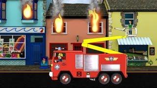 getlinkyoutube.com-Feuerwehrmann Sam 2 - Feuer und Rettung (Deutsch) App für Kinder