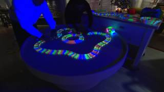 getlinkyoutube.com-Twister Trax 12ft Glow in the Dark Set w/ 2 Light-Up Cars with Rachel Boesing