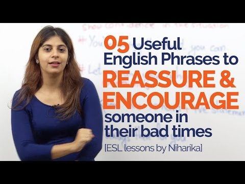 How to Reassure & Encourage someone? – English Speaking phrases to speak fluently & Confidently