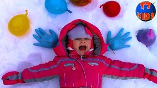 getlinkyoutube.com-Замораживаем Шарики ОРБИЗ в шариках с водой ОГРОМНЫЙ ШАР Видео для детей ORBEEZ for kids