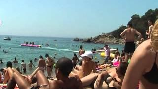 getlinkyoutube.com-Nudist on the beach in Lloret de Mar