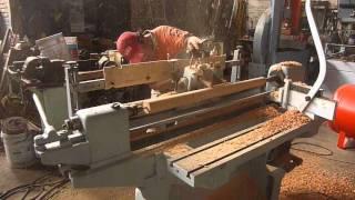 getlinkyoutube.com-Torno copiador para Bate de beisbol   Maquinas para madera