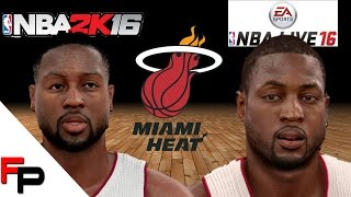 getlinkyoutube.com-NBA 2K16 vs.  NBA Live 16 - Miami Heat - Player Faces