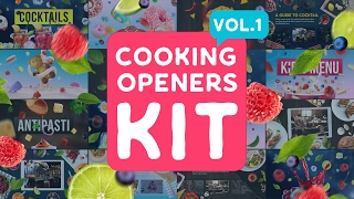 Cooking Intros / Openers - vol 1 | After Effects Template