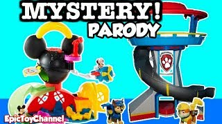 "getlinkyoutube.com-PAW PATROL Parody MICKEY MOUSE CLUBHOUSE ""Paw Patrol Toys Help Mickey Mouse"" by EpicToyChannel"