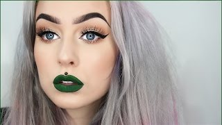 getlinkyoutube.com-Go To Everyday Look with Green Lips | Evelina Forsell