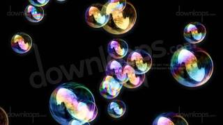 getlinkyoutube.com-Soap Bubbles / Black Background - Calm Video Loop / Animated Motion Background