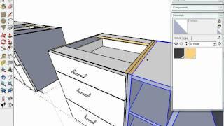 "getlinkyoutube.com-SketchUp Kitchen design Dynamic Components ""Cabinets"""