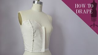 getlinkyoutube.com-How To Drape A Sweetheart Strapless Bodice