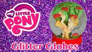 getlinkyoutube.com-DIY Custom MLP Glitter Snow Globes My Little Pony Applejack