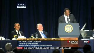 getlinkyoutube.com-Dr. Benjamin Carson's Amazing Speech at the National Prayer Breakfast with Obama Present